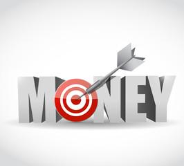 money target dart illustration design