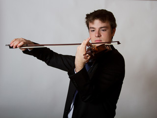 Virtuoso Teen Male Violinist  Playing