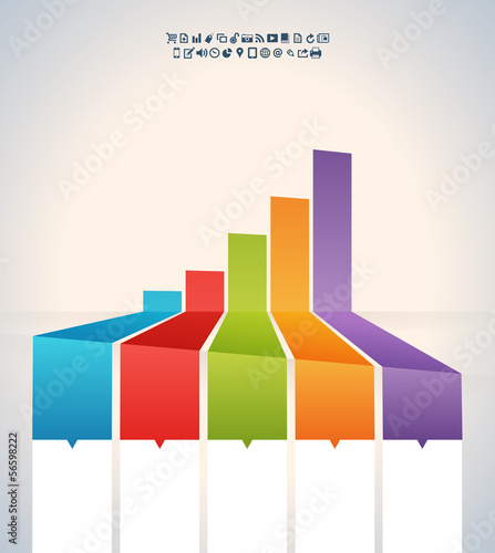 Skewed Colorful Graphic Bar Banner