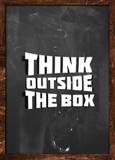 Think outside box blackboard