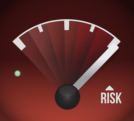risk speedometer illustration design graphic