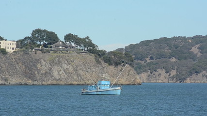 Fishing boat in the San Francisco Bay