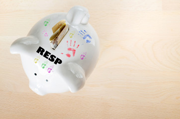 Canadian RESP savings concept