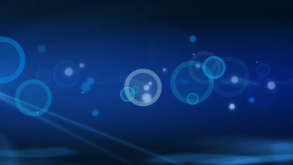 Blue Stars and Glowing Circles Abstract Background