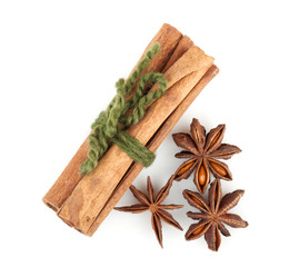 Cinnamon sticks and anise