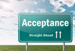 "Highway Signpost ""Acceptance"""