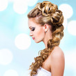 Woman with wedding hairstyle