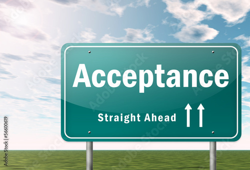"""Highway Signpost """"Acceptance"""""""