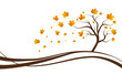 Herbst Baum Laub