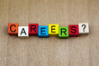 Careers - education & business sign