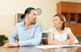 couple having conflict about family budget
