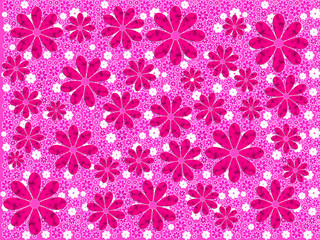 Pink Flower Art Pattern