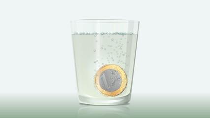 Fizzy Euro coin