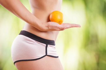 Frau Diät Orange