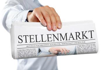 Zeitung mit Stellenmarkt