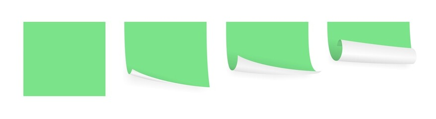 light green adhesive papers