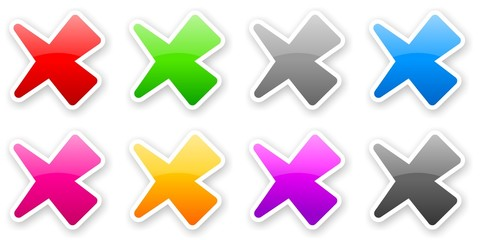 stickers of color glossy check marks