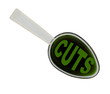 Spoonful of economic medicine - budget cuts  isolated