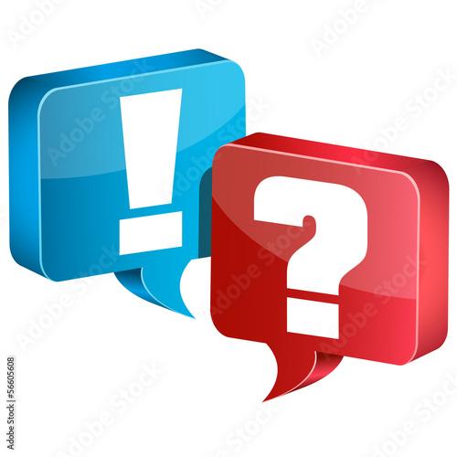 Frage und Antwort Sprechblasen