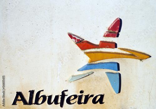 Schild Albufeira