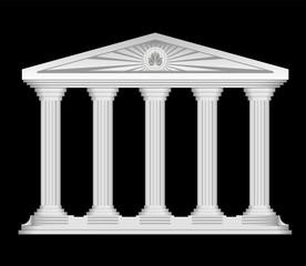 Antique roman temple stylized vector background