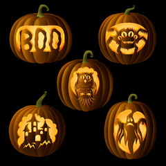 Set of original Jack O Lanterns
