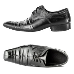 A pair of black man's shoes