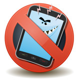 Unhealthy Mobile Phone With Harmful Waves poster