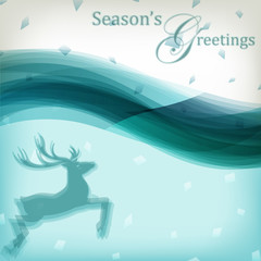 Abstract Christmas background with reindeer