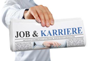 Zeitung mit Job & Karriere