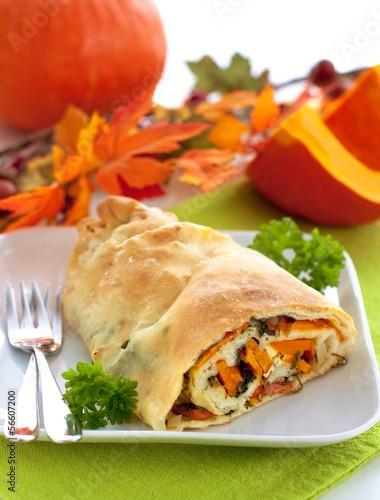 Pumpkin strudel pastry