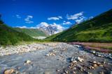 Beautiful valley in Caucasus mountains in Upper Svaneti, Georgia