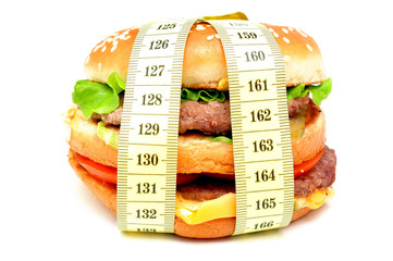 great burger at a measuring tape