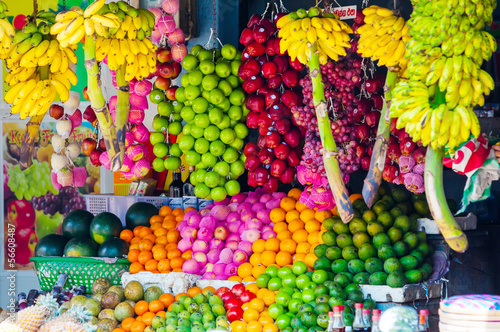 Various fruits at local market in Sri Lanka