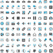 Blue Grey Webicons - Communication Entertainment Social Media