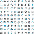 Blue Grey Webicons - Social Media Communicationicon