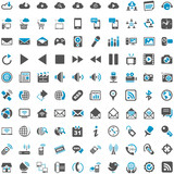 Fototapety Blue Grey Webicons - Communication Entertainment Social Media