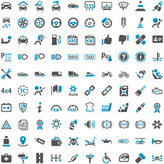 Blue Grey Webicons - Automobile Technology