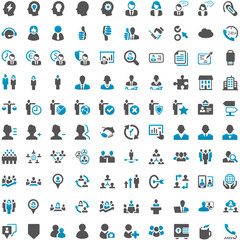 Blue Grey Webicons - People Work Business