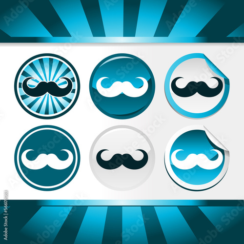 Movember Mustache Awareness Buttons