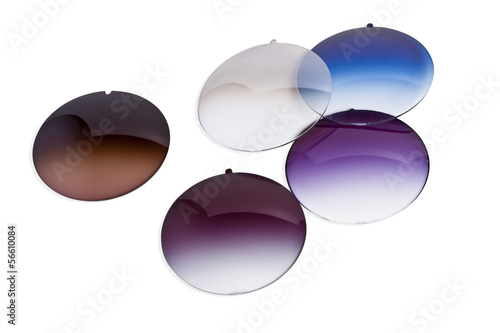 Resin glass for spectacles