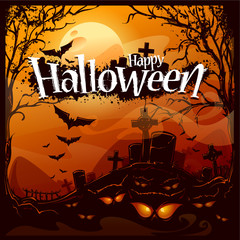 Cartoon halloween background