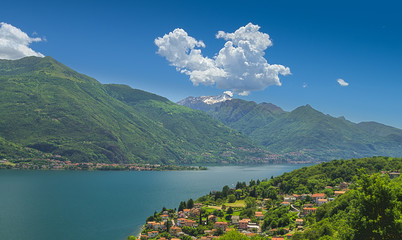 Bright view on lake Como
