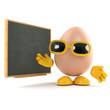 Egg at the blackboard