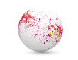 sphère taches rouge