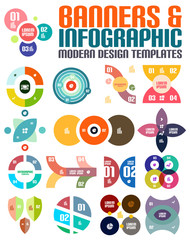 Modern geometrical abstract infographic templates