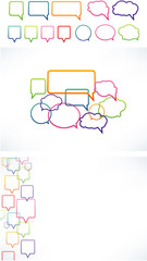 Vector set of various speech bubbles