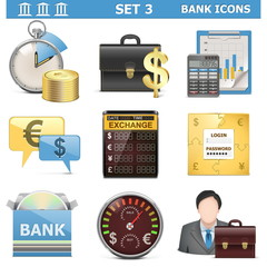 Vector Bank Icons Set 3