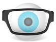 eyeball with glasses
