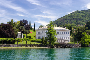 Villa Melzi and its gardens near Bellagio at the famous Italian